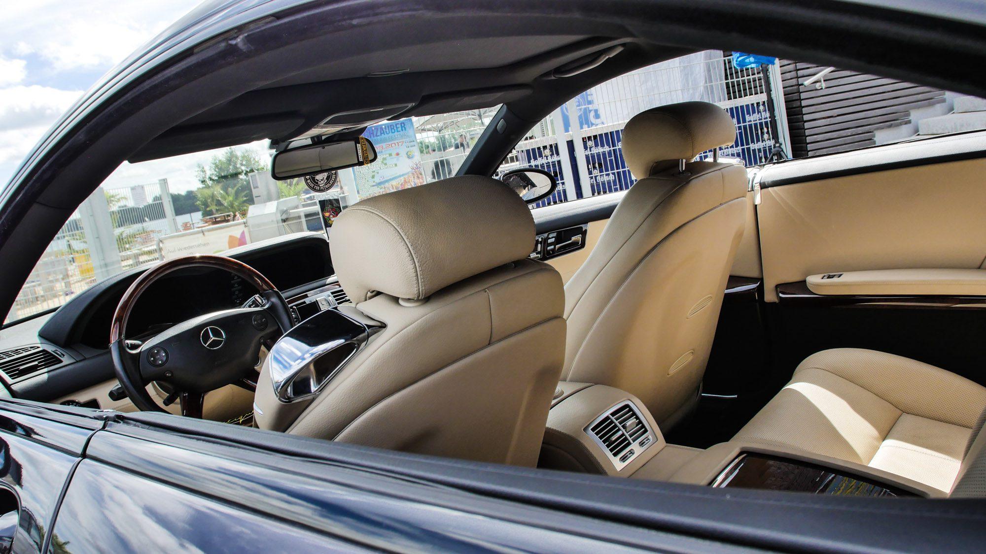 Wer braucht schon eine B-Säule? Der Mercedes CL500 definitiv nicht!