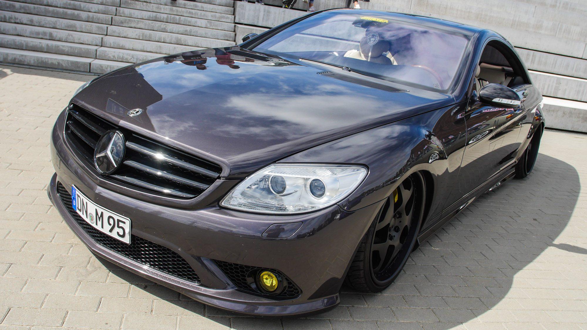 Frontansicht des Mercedes CL500