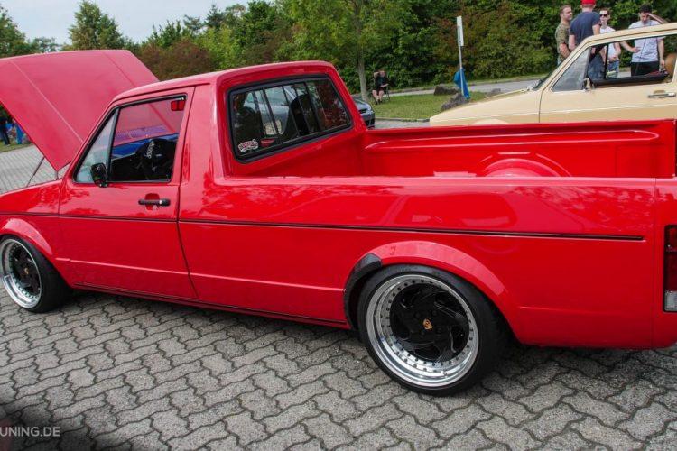 Rote Flunder: Dieser VW Caddy fällt auf!