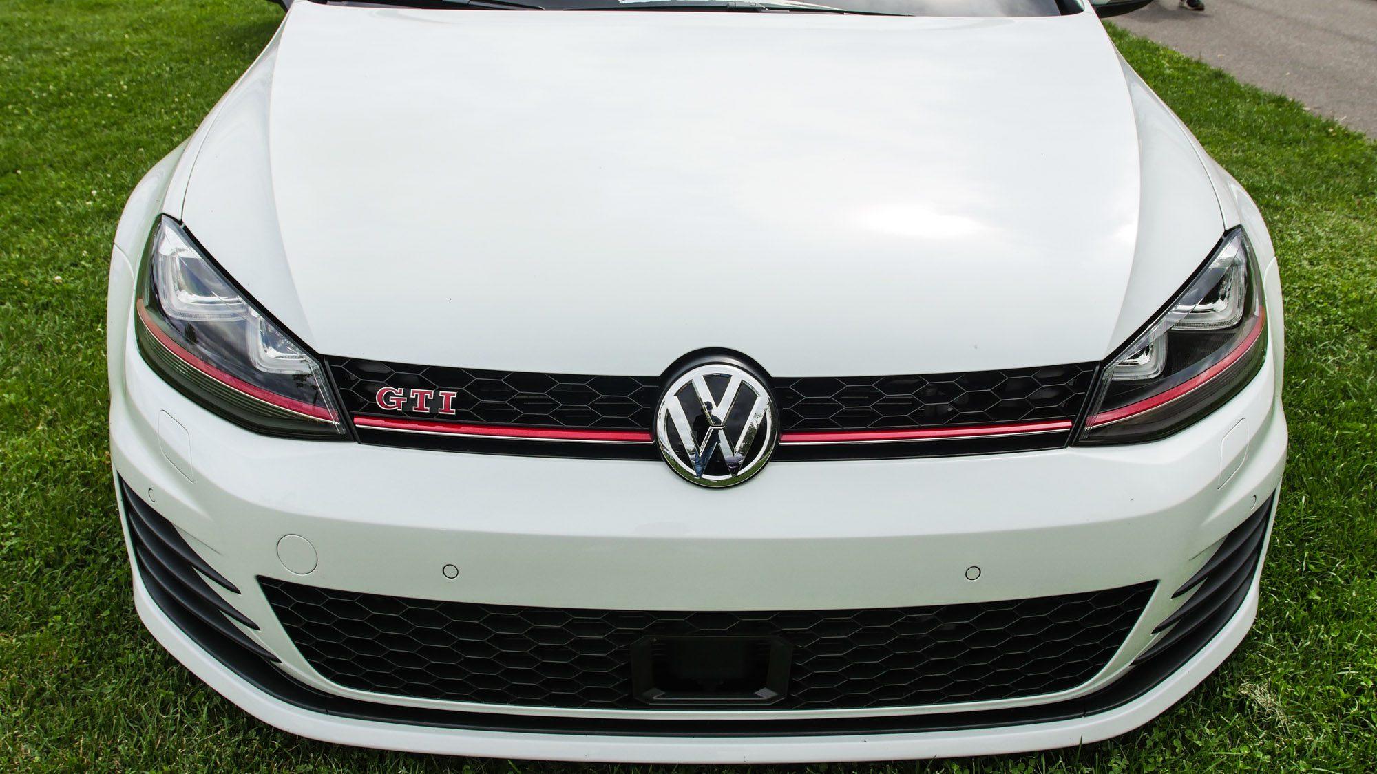 Front des VW Golf VII GTI