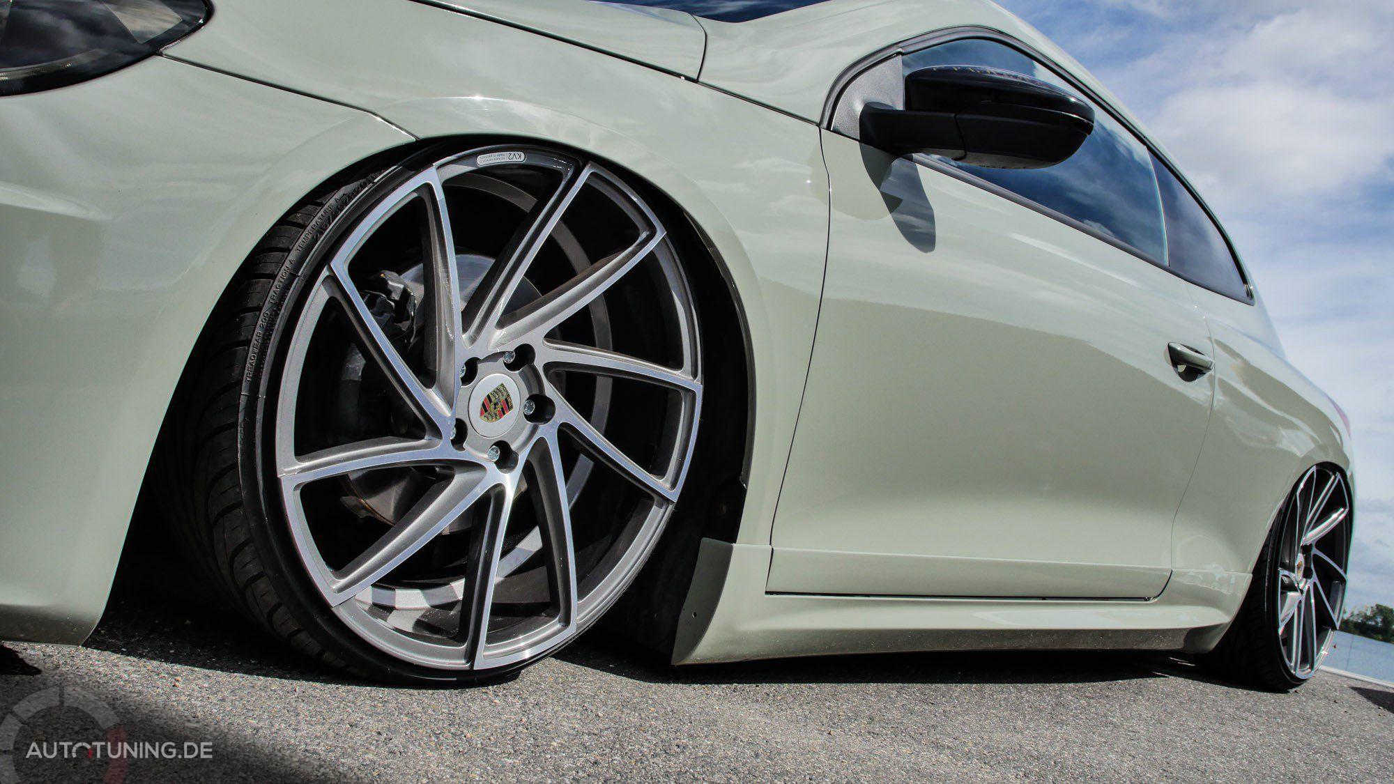 Krasser Niederquerschnitt bei den Reifen des VW Scirocco