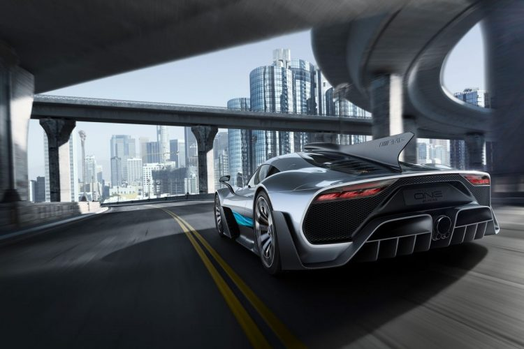 Heckansicht des Mercedes-AMG Project ONE