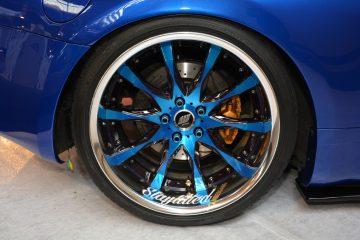 Lug Nuts an einem Reifen