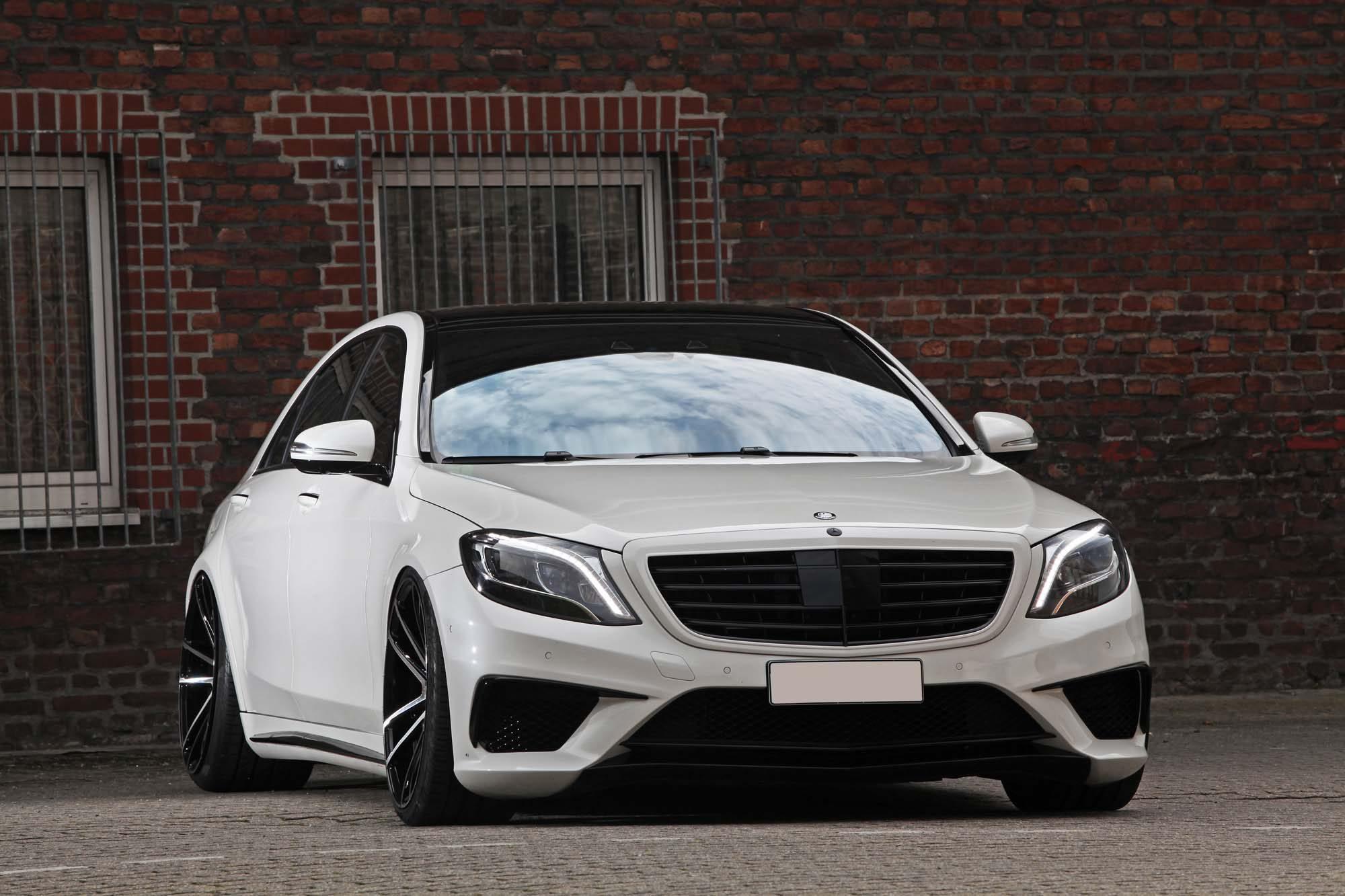 Die bullige Front des Mercedes-AMG S 63 L von Inden Design