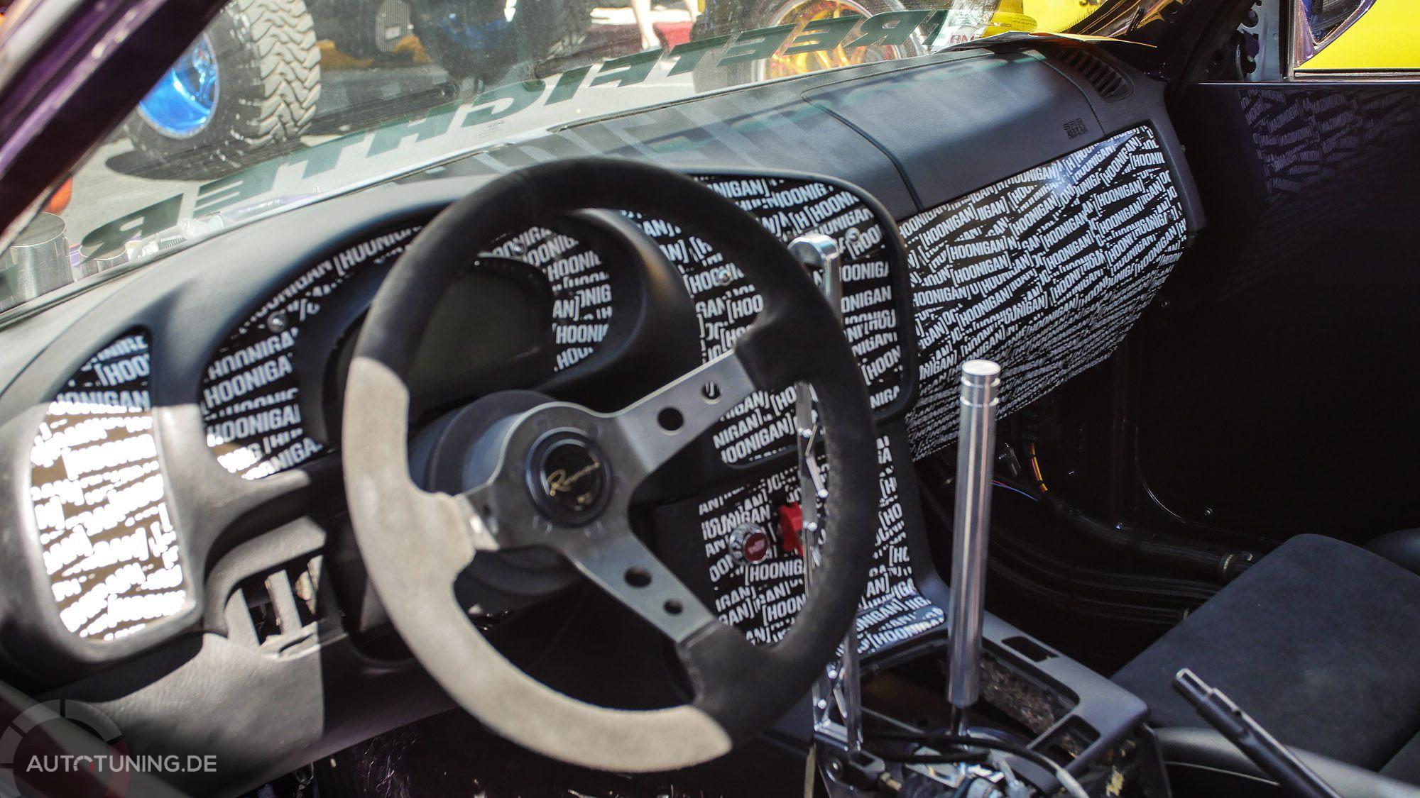 Auffällige Innenraumgestaltung des BMW E36