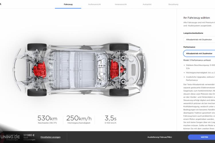 Tesla Model 3 Konfigurator