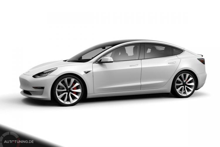 Tesla Model 3 Performance in Pearl White Multi-Coat
