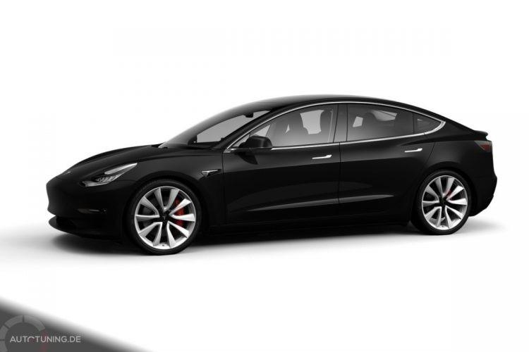 Tesla Model 3 Performance in Solid Black