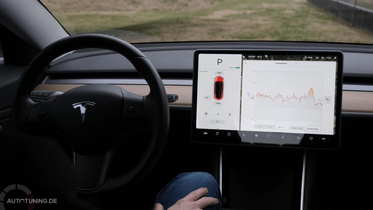Energieverbrauch des Tesla Model 3