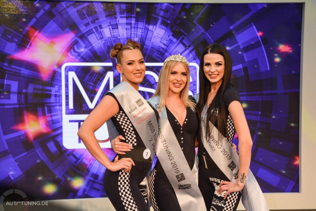 Miss Tuning Erster, zweiter und dritter Platz